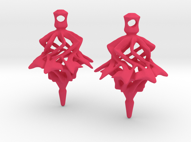 Surreal Lantern Earrings - Standard Pair 3d printed