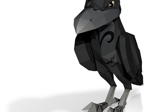 cool crow 3d printed