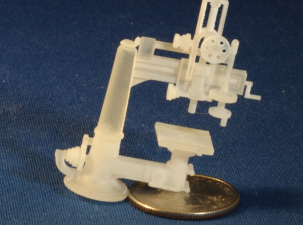 Radial Drill Press S Scale in Smooth Fine Detail Plastic