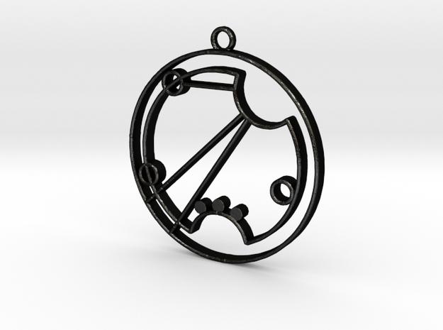 Rosie - Necklace in Matte Black Steel