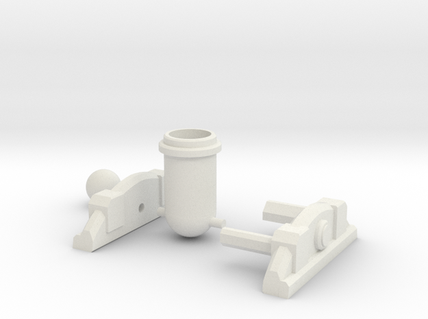 Clash of Clans Mortar in White Natural Versatile Plastic