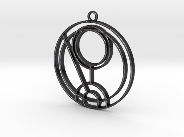 Quinn - Necklace in Polished and Bronzed Black Steel