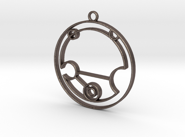 Nevaeh - Necklace in Polished Bronzed Silver Steel
