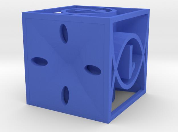 Dice33 in Blue Processed Versatile Plastic