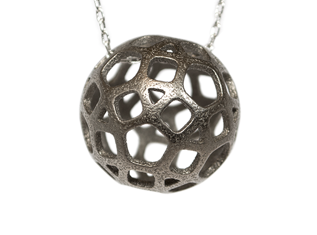 DodecaBall Pendant in Polished Nickel Steel