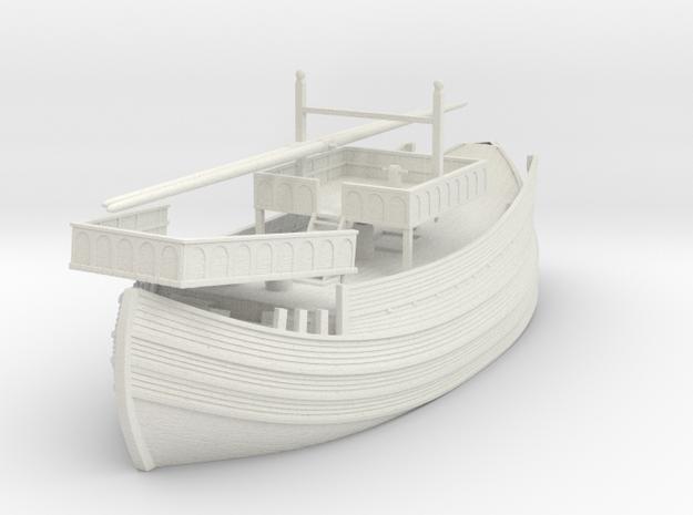 Venicia, 1/72 scale model of Medieval Venetian Shi in White Natural Versatile Plastic