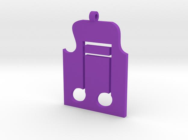 Music Pendant in Purple Processed Versatile Plastic