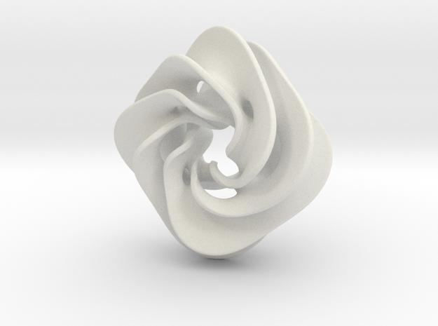 Scherk Pendant II in White Natural Versatile Plastic