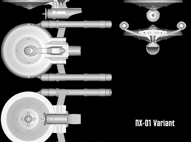 """Federated Cruiser X-02 """"Endeavour"""" 3d printed"""