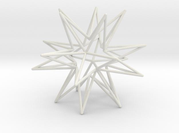 Icosahedron Star in White Natural Versatile Plastic