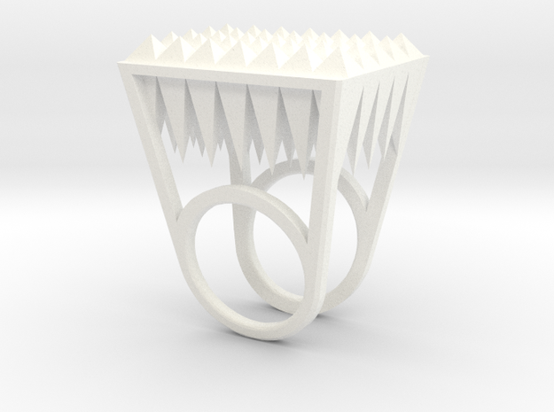 RockStone-size8 in White Processed Versatile Plastic