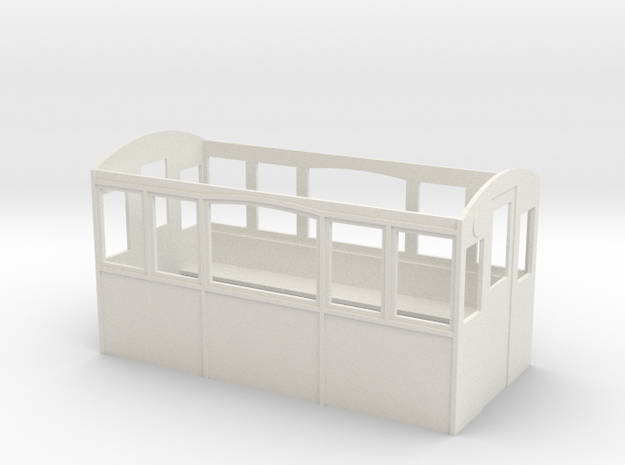 Wagenkasten-5-Fenster in White Natural Versatile Plastic