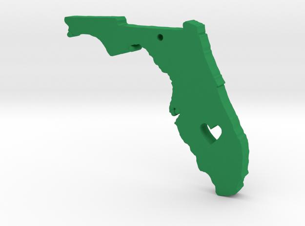 I love Florida Pendant in Green Processed Versatile Plastic
