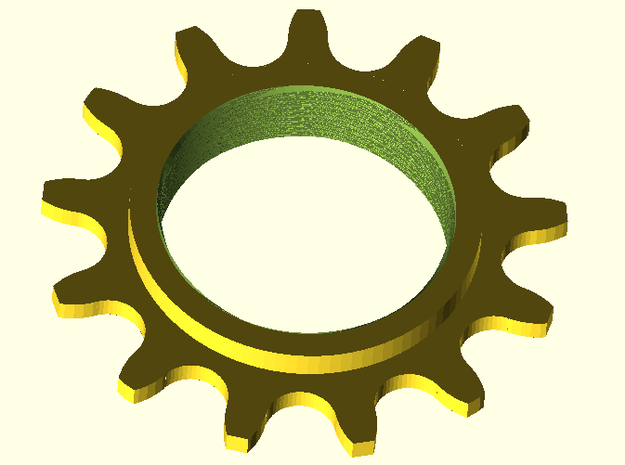 Rohloff 13-tooth sprocket 3d printed