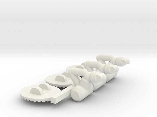 Chariot Dropship Landing Gear - 3mm in White Strong & Flexible
