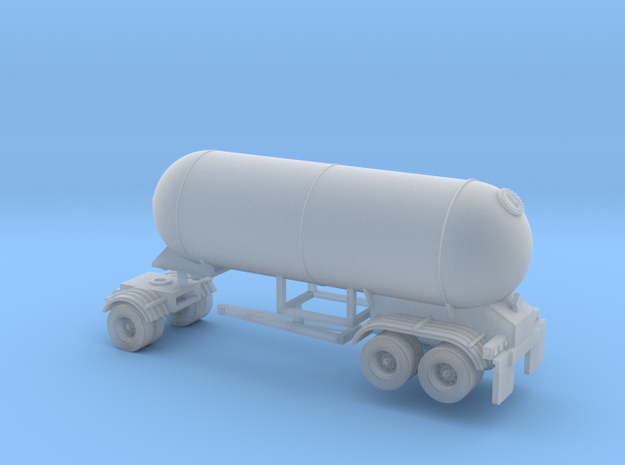 N scale 1/160 LPG Pup twin-axle trailer 15 in Smooth Fine Detail Plastic