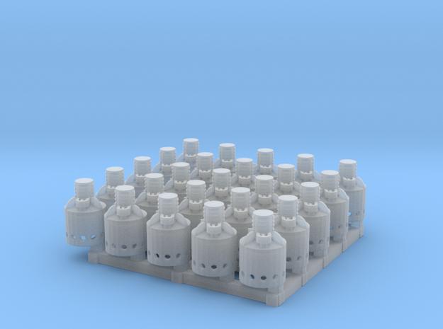 Kerosene Heaters for Reefers HO scale X25 in Smooth Fine Detail Plastic
