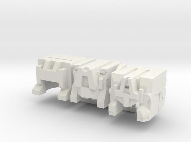 Three Evil Principals in White Natural Versatile Plastic