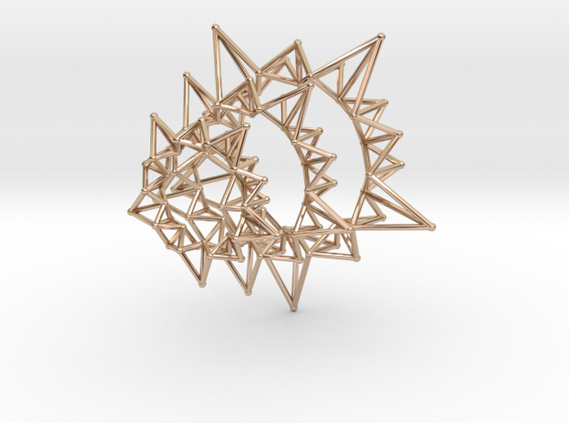 Star Rings 5 Points - 3 pack - 6cm 3d printed