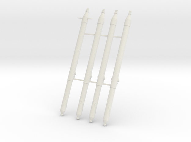11-Primary Strut in White Natural Versatile Plastic
