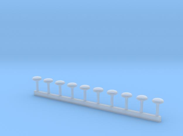 Dachlüfter RTW-KTW 4mm Durchmesser in Smooth Fine Detail Plastic