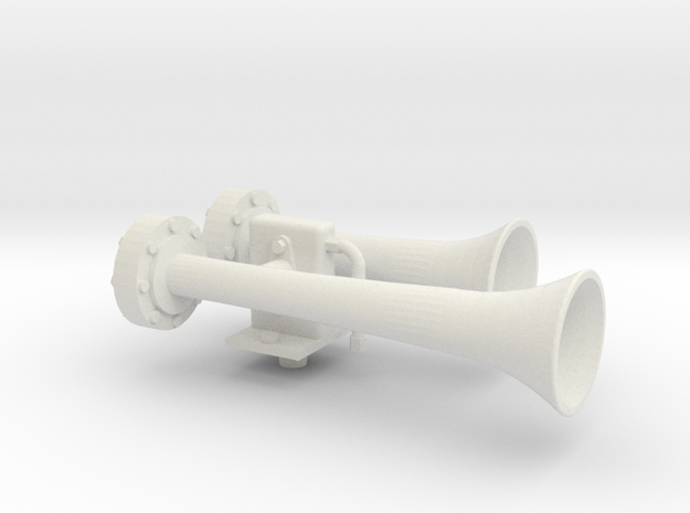 "1.5"" scale nathan air horn in White Natural Versatile Plastic"