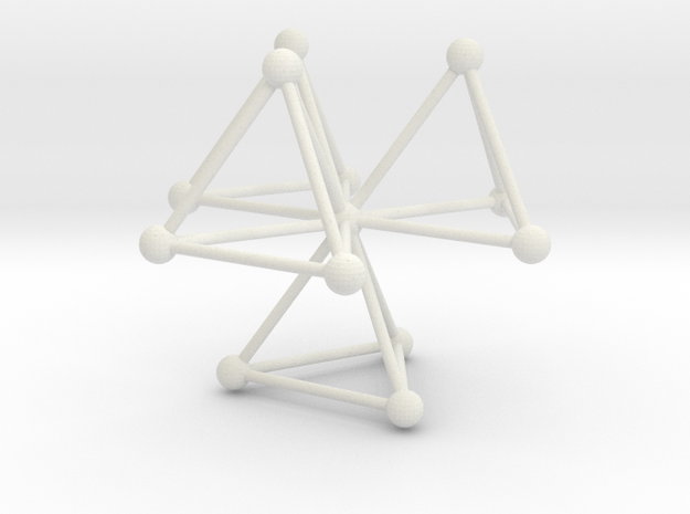 Tetrahedra (L) in White Natural Versatile Plastic
