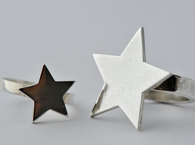 Silver Ring (small star) in Polished Silver