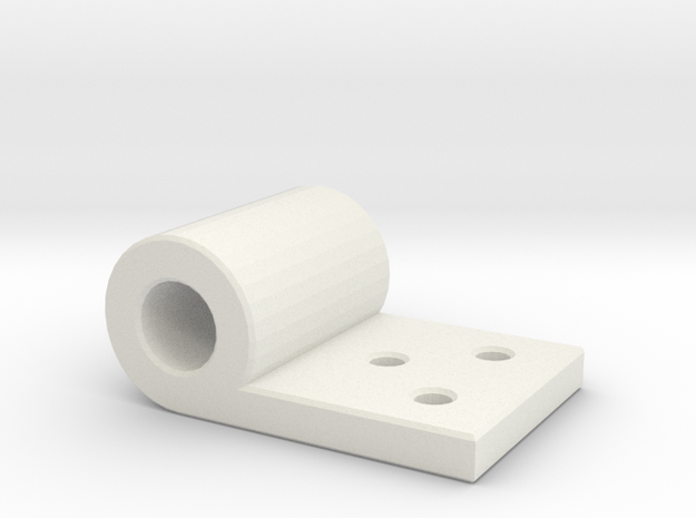 Hinge in White Natural Versatile Plastic