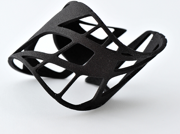 Bracelet Treble Trig in Black Natural Versatile Plastic