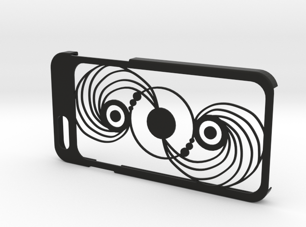 iPhone 6 case with crop Circle in Black Natural Versatile Plastic
