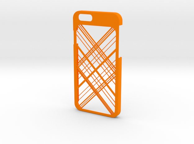 iPhone 6 case - Abstarct Lines in Orange Processed Versatile Plastic