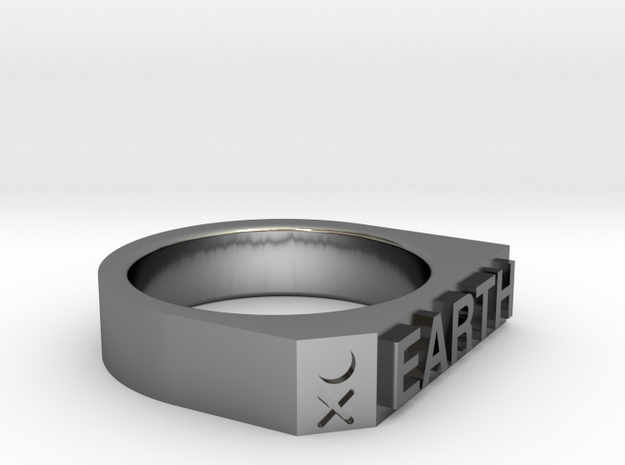 Earth Ring - Captain series - Mulder&Skully in Premium Silver