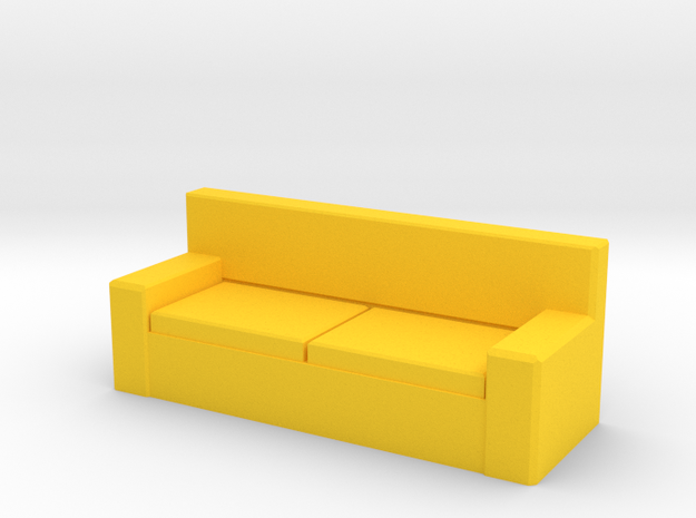 Tiny Couch in Yellow Processed Versatile Plastic