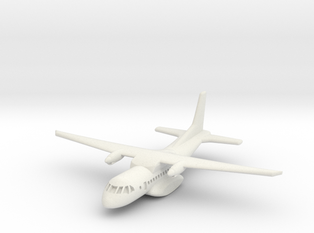 1:700 CASA/IPTN CN-235 military transport aircraft in White Natural Versatile Plastic