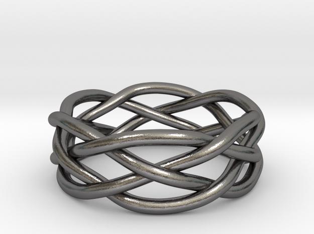 Dreamweaver Ring (Size 7) in Polished Nickel Steel