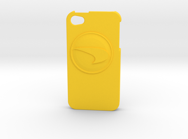 City of heroes Scrapper iPhone 4/4s phone case in Yellow Strong & Flexible Polished