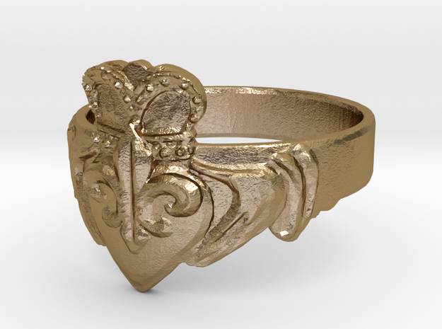NOLA Claddagh, Ring Size 11 3d printed