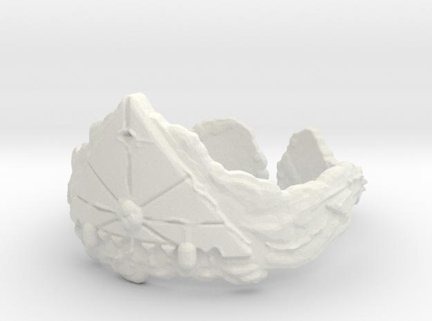 Cloud Ships Lightning, Ring Size 6 3d printed