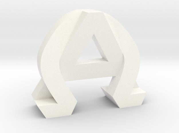AlphaOmega (Large) in White Processed Versatile Plastic