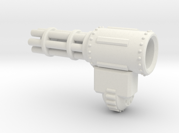 Gatling Gauntlet in White Natural Versatile Plastic