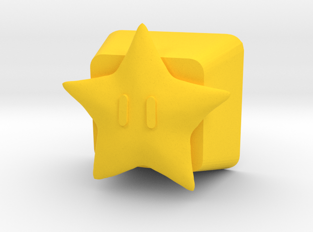 Power Star Cherry MX Keycap in Yellow Processed Versatile Plastic