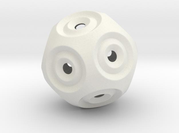Sphere -O in White Natural Versatile Plastic