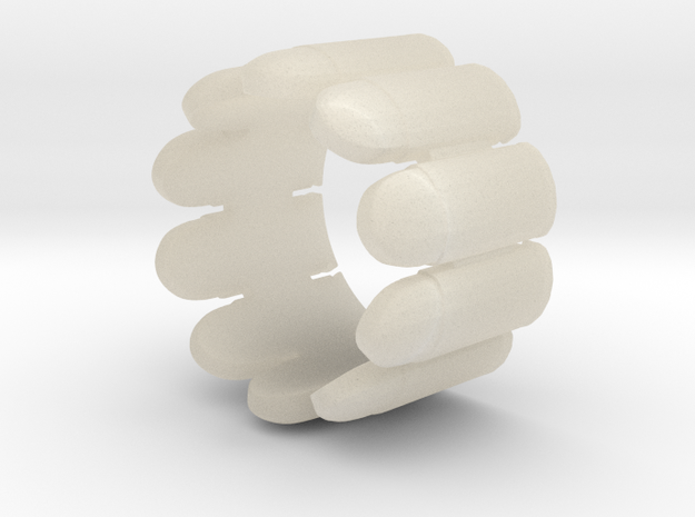 Pistol Bullets, 10, Thick, Ring Size 10 3d printed