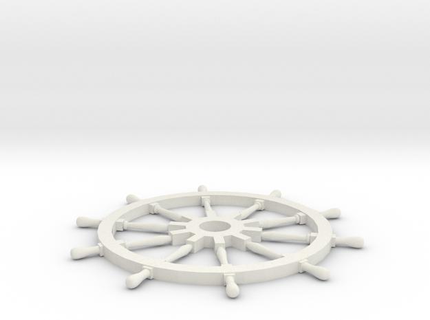 Ships Wheel in White Natural Versatile Plastic