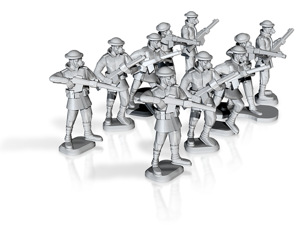 15mm Anglian Guard Riflemen (x10) 3d printed