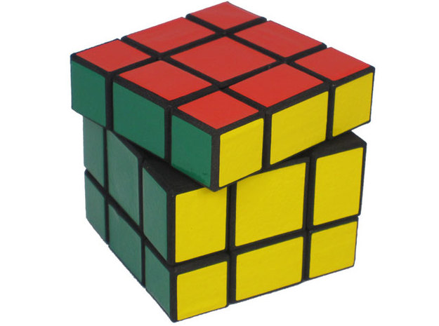 Mixup Cube 3d printed Regular Rubik's turn