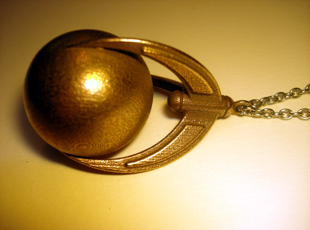 Ball And Claws (large) Pendant in Stainless Steel