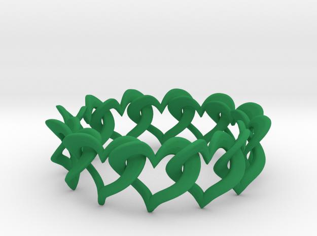 12 Hearts Chain Bracelet 3d printed