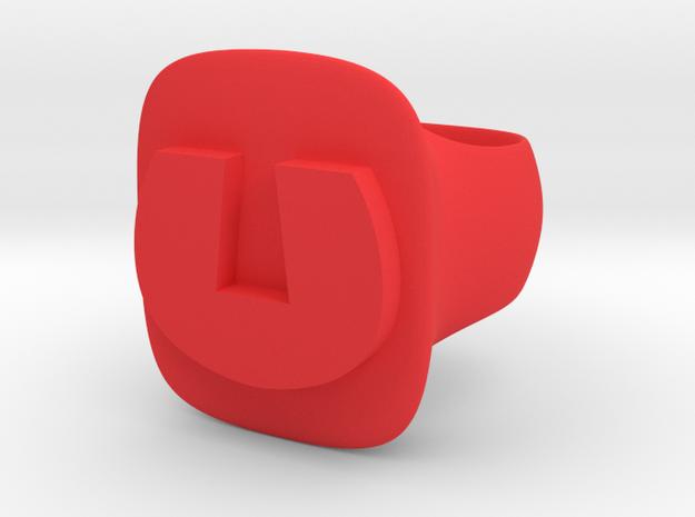 Underdog in Red Processed Versatile Plastic